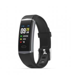 Pulsera de actividad muvit io sport aqua negra - pantalla lcd color 2.44cm - gps - multideporte - pulsómetro - notificaciones -