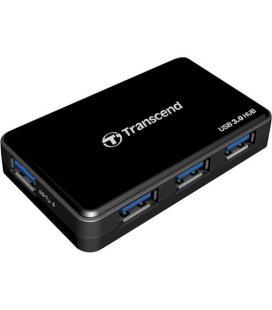 HUB TRANSCEND HUB3K 4PTOS USB3.0 NEGRO+ADAPTADOR DE PARED