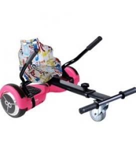 Kit asiento kart street dance + hoverboard skateflash k6 pink rueda 6.5pulgadas bateria 4400mah motor 500w - bolsa de transporte