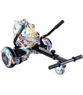 Kit asiento kart street dance + hoverboard skateflash k6 street dance rueda 6.5pulgadas bateria 4400mah motor 500w - bolsa de tr