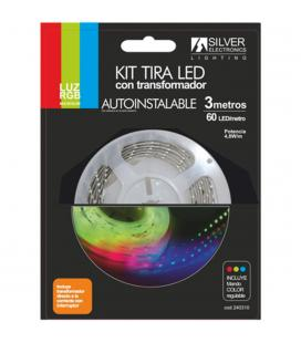 Kit tira led silver sanz 240310 3m - 7.4w - m - rgb - Imagen 1
