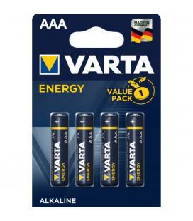 Blister varta 4 pilas alcalinas lr03 aaa energy - Imagen 1