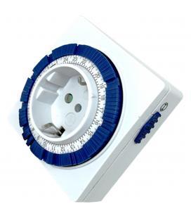Programador de electricidad silver sanz 49402 analógico - 24 horas - 3600w - 250v - 16a - 50hz - compacto