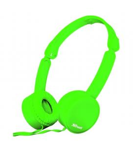 Auriculares trust nano green - drivers 27mm - micrófono omnidireccional - plegables - cable 110cm - jack 3.5mm - func. manos