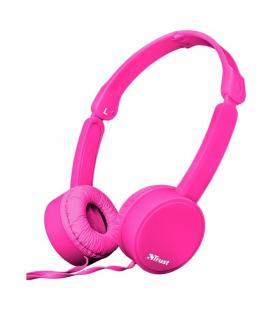 Auriculares trust nano pink - drivers 27mm - micrófono omnidireccional - plegables - cable 110cm - jack 3.5mm - func. manos