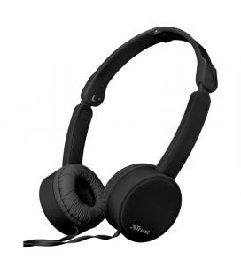 Auriculares trust nano black - drivers 27mm - micrófono omnidireccional - plegables - cable 110cm - jack 3.5mm - func. manos