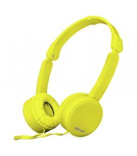 Auriculares trust nano yellow - drivers 27mm - micrófono omnidireccional - plegables - cable 110cm - jack 3.5mm - func. manos