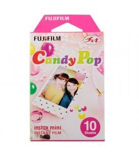 Papel fotográfico fujifilm instax mini film candy pop - 10 hojas - compatibilidad según especificaciones