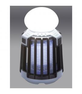 Atrapa insectos y lámpara portátil jata mostrap mib9n - 5w - 25m2 exterior/interior - 3 modos de eliminación - compatible con -