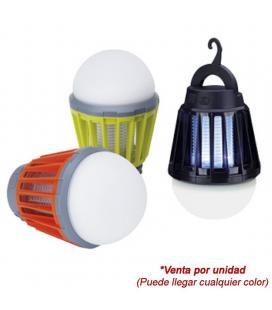 Atrapa insectos y lámpara portátil mostrap mib6 - 5w - 25m2 exterior/interior - luz ultravioleta y descarga eléctrica - - Imagen
