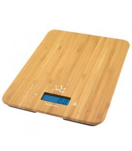 Báscula de cocina gran pesada jata 720 - hasta 15kg - precisión 1g - función tara - visor lcd - reloj integrado - superficie
