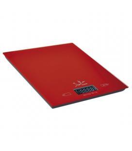Báscula de cocina jata 729 roja - hasta 5kg - precisión 1g/1ml - informa peso/volumen - función tara - visor lcd - superficie