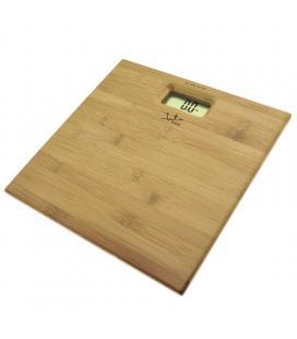 Báscula de baño jata 489 - capacidad 150kg - graduacion 100g - visor lcd gran tamaño - base bambu prensado 12mm