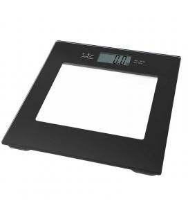 Báscula de baño jata 290 negra - capacidad 150kg - graduacion 100g - visor lcd gran tamaño - base cristal seguridad
