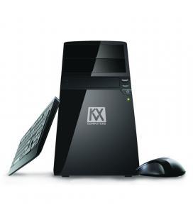 Kvx windows 10 / intel i3 9100f 3.60ghz / 4gb ram ddr4 / hdd 120gb ssd / gf710 1gb / h310m s2h / 500w 85% efic / teclado y raton
