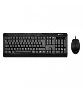 Combo teclado qwerty español multimedia phoenix phcombokeymedia+ con cable + raton mouse optico cable usb phoenix