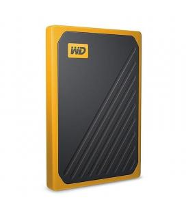 Disco externo western digital ssd my passport go 500gb yellow - usb 3.0 - cable usb integrado - software incluido - protector