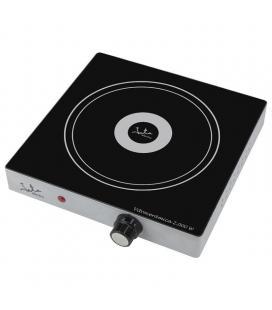 Placa de inducción jata v139 - 2000w - ø180mm - termostato regulable - cuerpo metálico - protección sobrecalentamiento