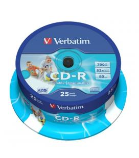 Verbatim CD-R 700MB 52x Printable Tarrina 25Uds
