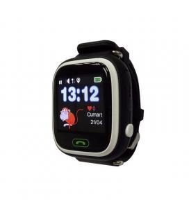Reloj inteligente con localizador para niños leotec kids way negro - pantalla lcd táctil - gps - microsim - botón sos/llamada