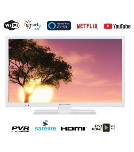 Televisor eas electric e32sl702w - 32'/81.2cm - 1366*768 - dvb-t/t2/c/s/s2 hevc - smart tv - wifi - vga - 2*hdmi - usb - lan -