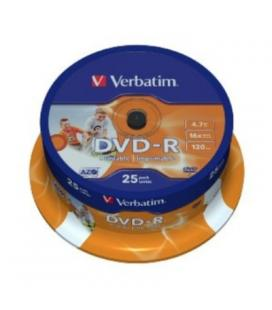 Verbatim DVD-R 4.7GB 16x Printable Tarrina 25Uds