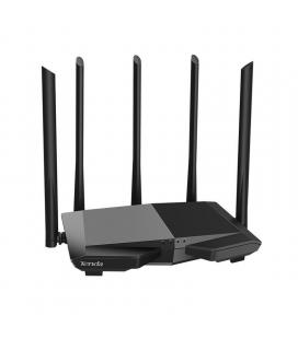 Router inalámbrico tenda ac7 - 802.11ac wave 2.0 - 2.4/5ghz - 3* lan - 1* wan - 5*antenas 6dbi banda dual