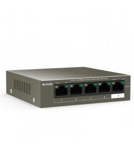 Switch tenda tef1105p-4-63w v2.0 - no gestionable - 5 puertos 10/100 (4 de ellos poe) - fuente alimentación externa - potencia