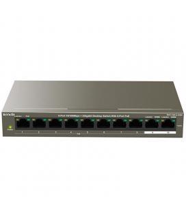 Switch tenda tef1110p-8-102w - no gestionable - 8 puertos 10/100 (datos/poe) - 2 puertos 10/100 (datos) - fuente alimentación
