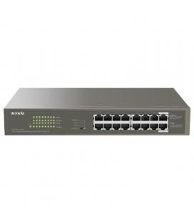 Switch tenda teg1116p-16-150w - 16 puertos 10/100/1000 (datos/poe) - alimentación externa - potencia total poe 135w - enracable