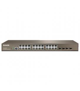 Switch tenda teg3224p - gestionable - 8 puertos 10/100/1000 (datos/poe) - 4 puertos sfp - enlace ip+mac+port+vlan - potencia