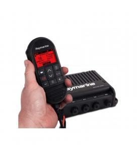 Radio vhf ray90, caja negra con microteléfono, altavoz y cables - Imagen 1