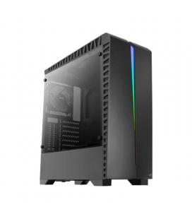 Caja semitorre aerocool scar - usb 3.0/ 2* usb 2.0 - led rgb panel en frontal - atx/micro atx/mini itx - soporta refrigeración -