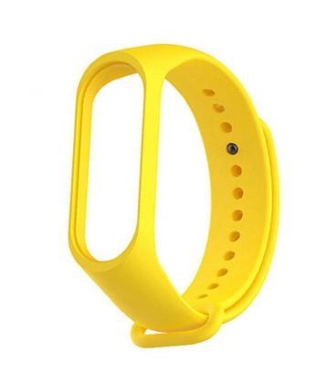 Correa xiaomi mi band 3 silicona amarillo - Imagen 1