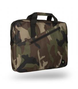 Maletín monray ginger army - para portátiles hasta 15.6'/39.6cm - 2 compartimentos + bolsillo - nylon - cinta para trolley