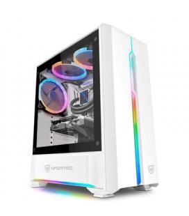 Nfortec Caja Antares Gaming RGB Blanca