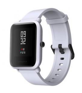 Reloj inteligente huami amazfit bip white cloud - pantalla 3.25cm - bt - sensor frecuencia cardiaca - gps - ip68 - bat. 200mah