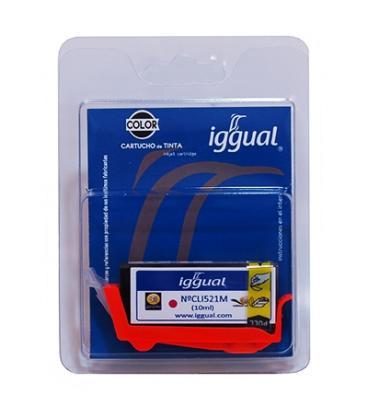 iggual Cartucho Reciclado Canon CLI-521M Magenta - Imagen 1