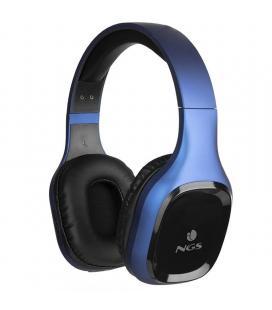 Auriculares bluetooth ngs ártica sloth blue - bt5.0 - entrada aux 3.5mm - func. manos libres - diadema ajustable - bat. 200mah