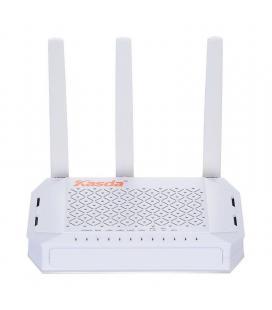 Router inalámbrico kasda kw6512 ac750 dual band - 2.4/5ghz - 4* lan 10/100 - 1* wan - 3 antenas externas 3dbi - qos - control