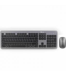 Teclado y ratón inalámbricos ngs matrix kit - teclado ultra plano - teclas silenciosas - ratón óptico 800/1600 dpi - pilas
