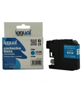 iggual Cartucho Reciclado Brother LC123C Cian