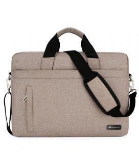 Maletin phoenix delhi para portatiles hasta 15.6pulgadas - 3 bolsillos - 5 compartimentos - correa bandolera - material de nylon
