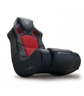 Sillon - sofa phoenix gaming racer negro incorpora sistema de sonido 2.1 - bt - bateria 2000mah - Imagen 1