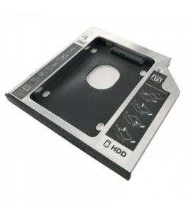 Adaptador para portátil 3go hddcaddy95 - para sustituir dvd de 9.5mm por hd/ssd de 2.5'/6.35cm - sata - incluye destornillador/
