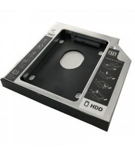 Adaptador para portátil 3go hddcaddy127 - para sustituir dvd de 12.7mm por hd/ssd de 2.5'/6.35cm - sata - incluye