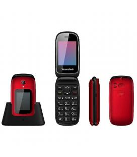Teléfono móvil sunstech celt22rd red - doble pantalla 2.4'/6cm 1.77'/4.49cm - bt - 32mb rom - cam vga 0.8mpx - dual sim - bat