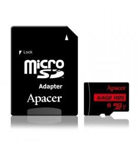 Tarjeta microsd xc + adaptador apacer 64gb - clase 10 - 85mb/s