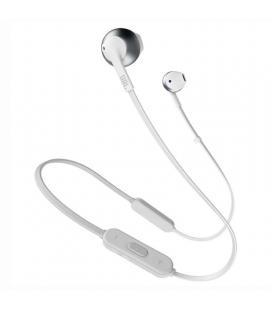Auriculares bluetooth jbl tune 205 bt silver - bt 4.1 - micrófono - 6 horas de conversación - cable plano - driver 12.5mm -