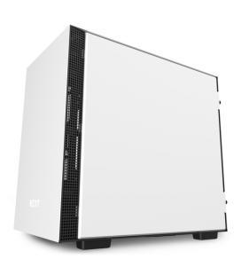 NZXT CAJA MINI ITX H210i SMART. LATERAL CRISTAL TEMPLADO. BLANCO-NEGRO MATE